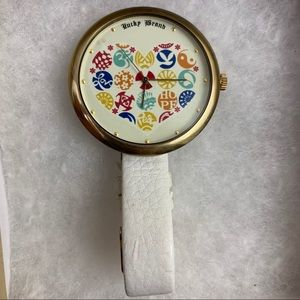 Lucky brand large leather watch